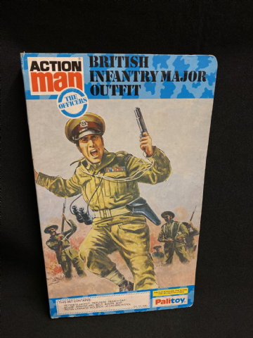 VINTAGE ACTION MAN - BRITISH INFANTRY MAJOR - BOOK CARDED UNIFORM (Ref3)